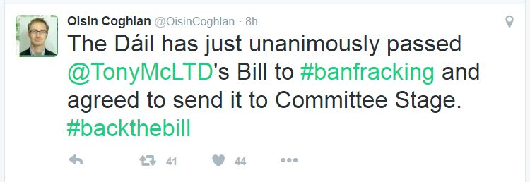 2016-10-27-oisin-coghlan-tweet-irish-parliament-just-unanimously-passed-frack-ban-bill