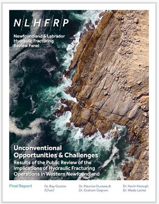 2016 Newfoundland and Labrador Hydraulic Fracturing Review Panel NLHFRP final report, cover