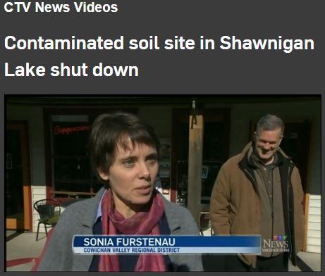 2017 02 23 Sonia Furstenau, Shawnigan Lake Toxic Dump shut down by BC Minister Environment