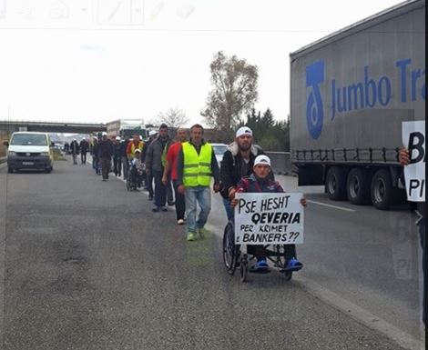 2017 02 25 Albanias walk for their homes damaged by Bankers Petroleum fluid injection and quakes