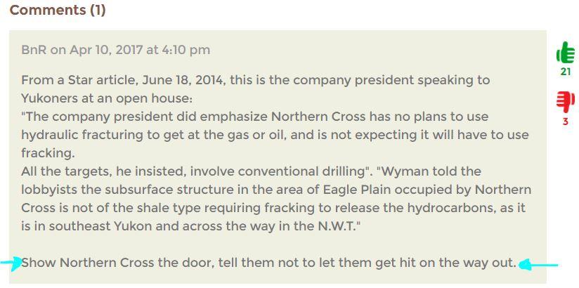 2017 04 10 comment to nasty northern cross ltd 2.2 billion dollar lawsuit against yukon govt