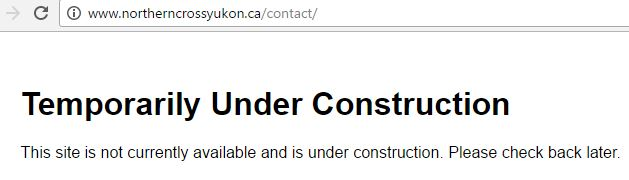 2017 04 11 Does Northern Cross Yukon exist, contact page, nothing on their website