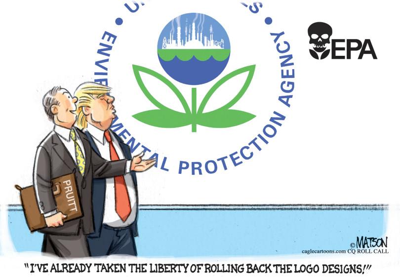 2017 Scott Pruitt, Rolling back EPA logo design