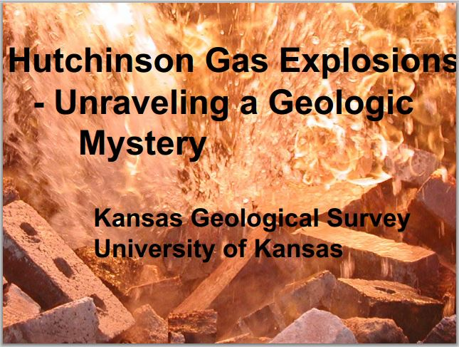 Hutchinson Gas Explosions Kansas Geological Survey U Kansas title