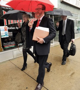 Lawyers for Cabot oil and Gas leave the courthouse in Scranton