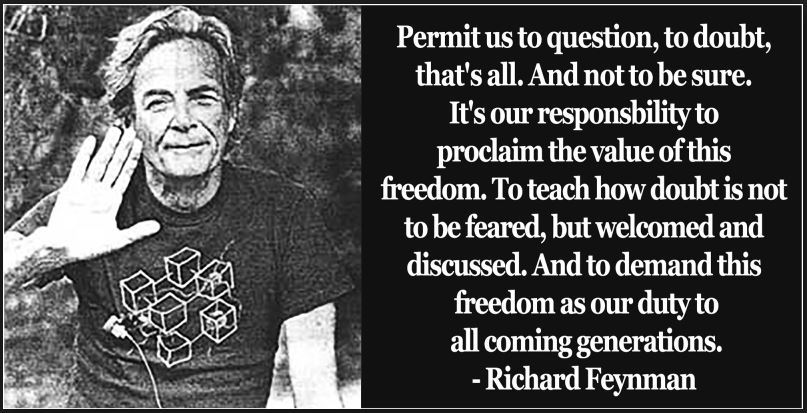 Richard Feynman quote on doubt