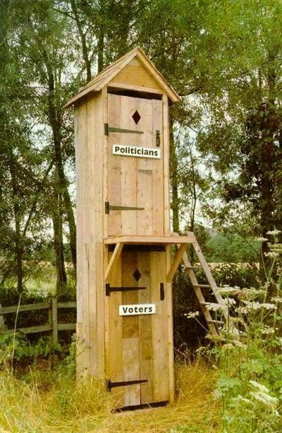 voter & politician outhouse
